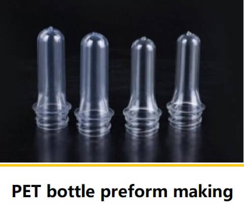 PET bottle preform making