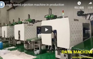 high speed injection molding machine video