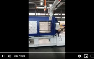 testing of high speed machine HXH350 with robot