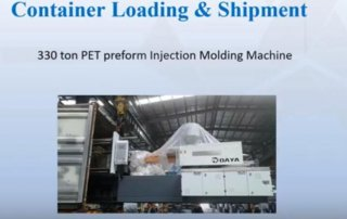 pet preform machine shipment