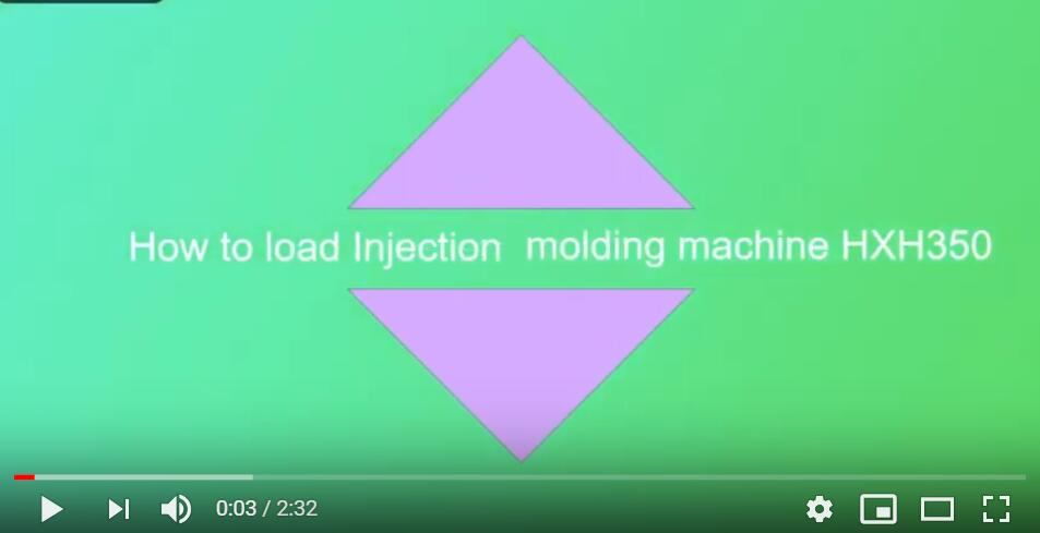 how to load injection molding machine HXH350