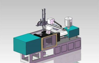 injection machine with robot