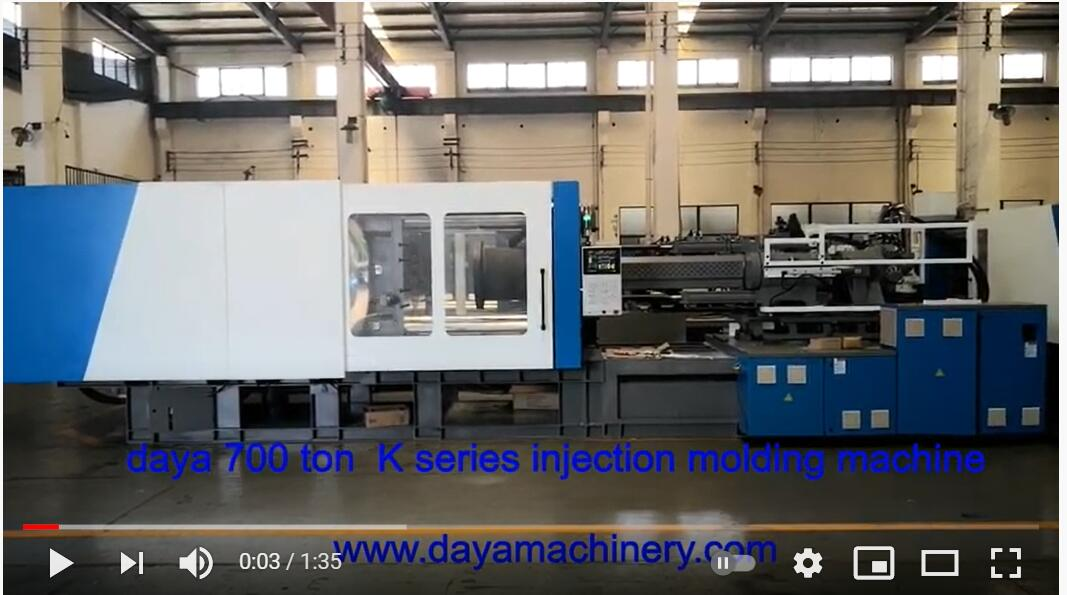 700 ton injection molding machine testing video