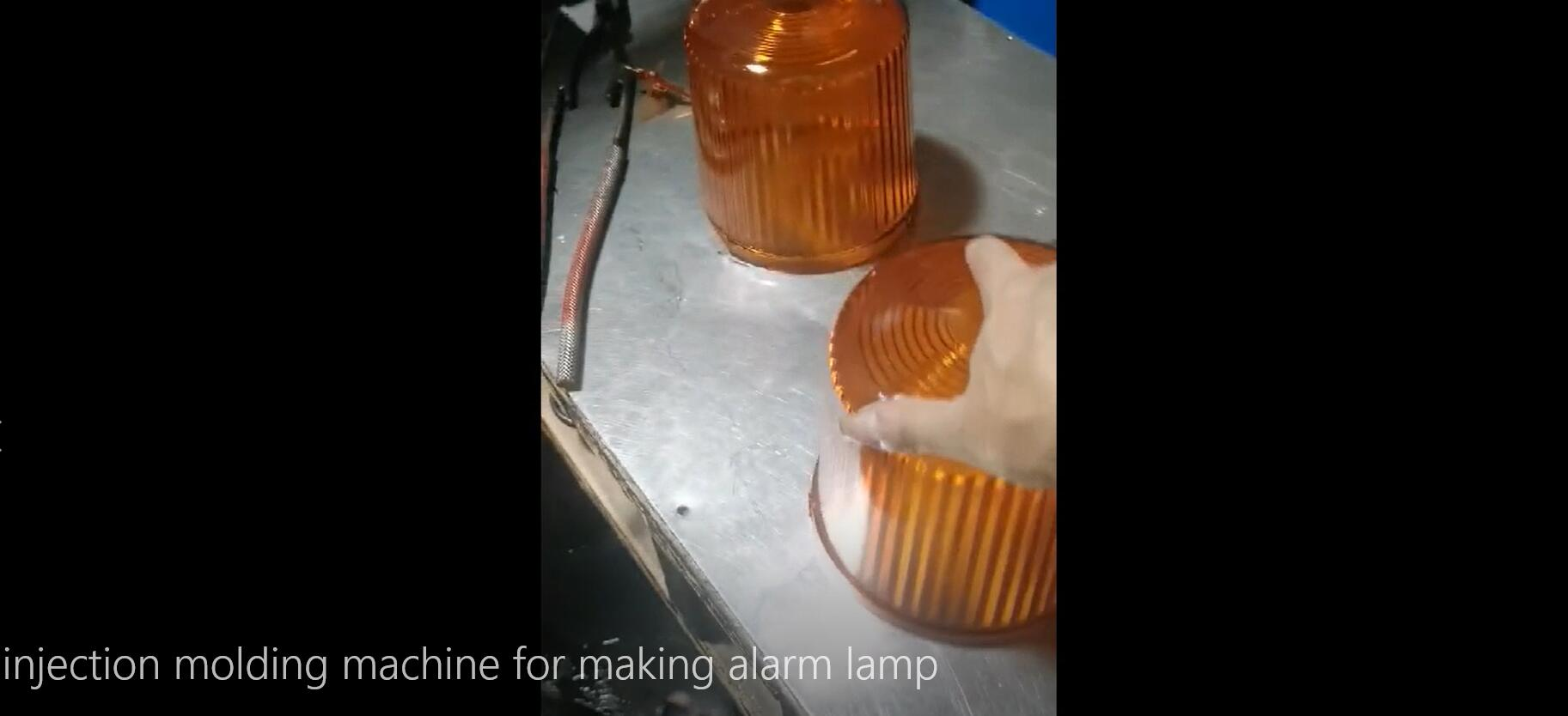injection molding machine for alarm lamp making